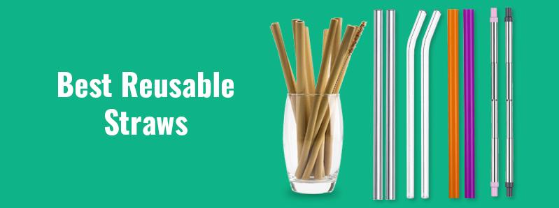 Six Reusable Straws – Plastic Alternative Solutions