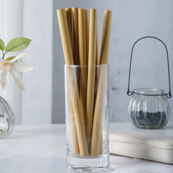 yellow bamboo straws