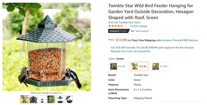 bird feeder amazon