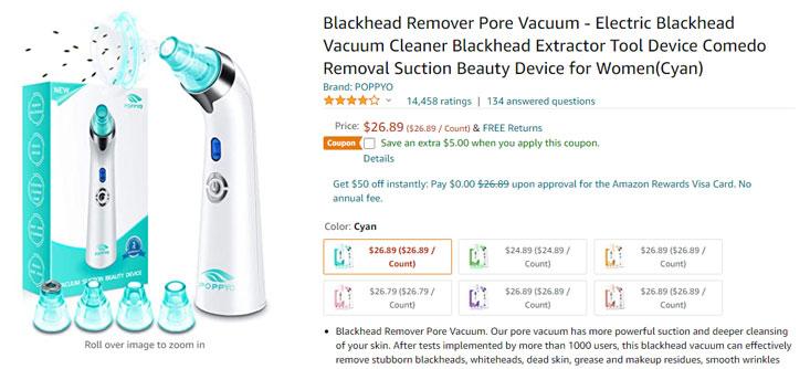 blackhead vacuum amazon