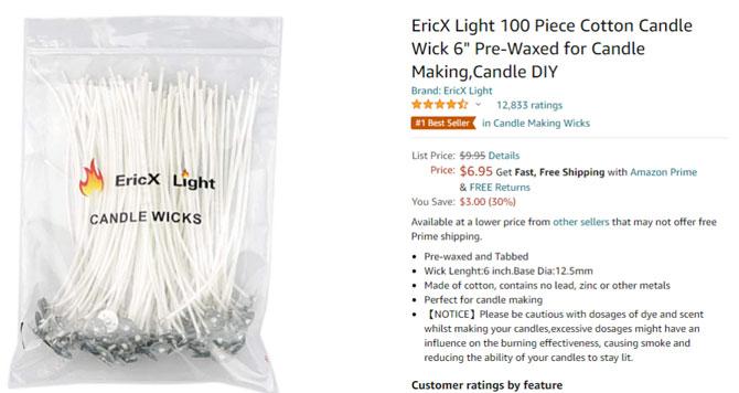 candle wicks amazon