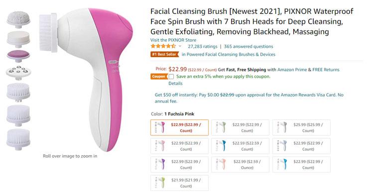 facial cleansing brush amazon