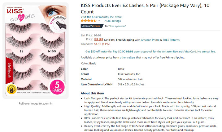fake eyelashes amazon