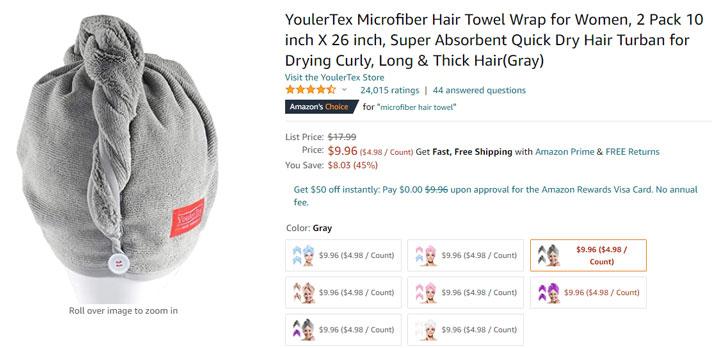 hair towel amazon