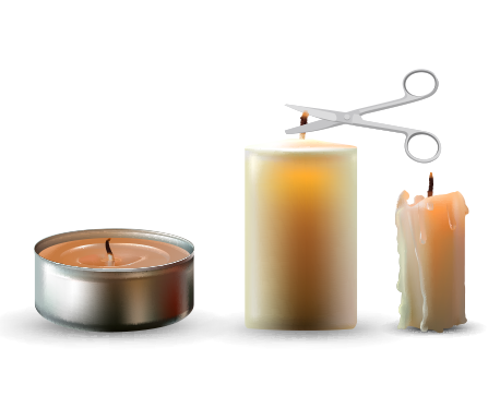 how to use a candle