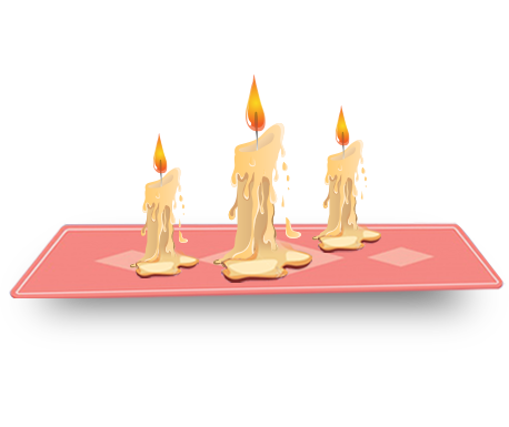 remove candle wax