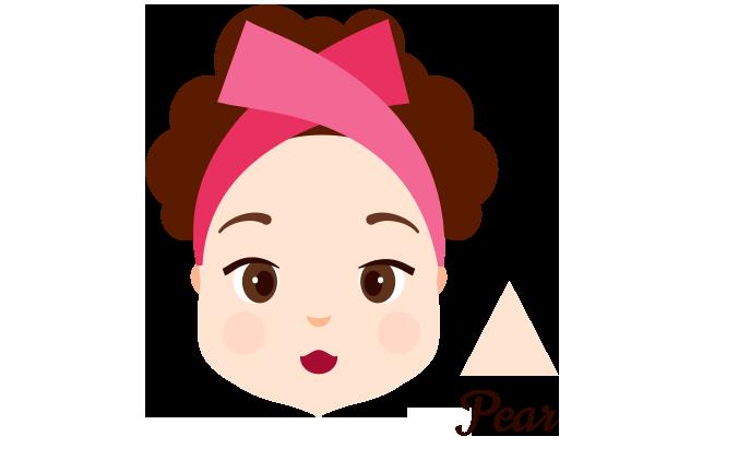 Pear-Shaped Face