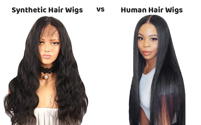 synthetic vs human hair wigs